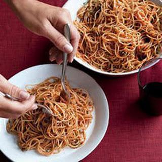 Two-Tomato Arrabbiata Pesto Pasta.