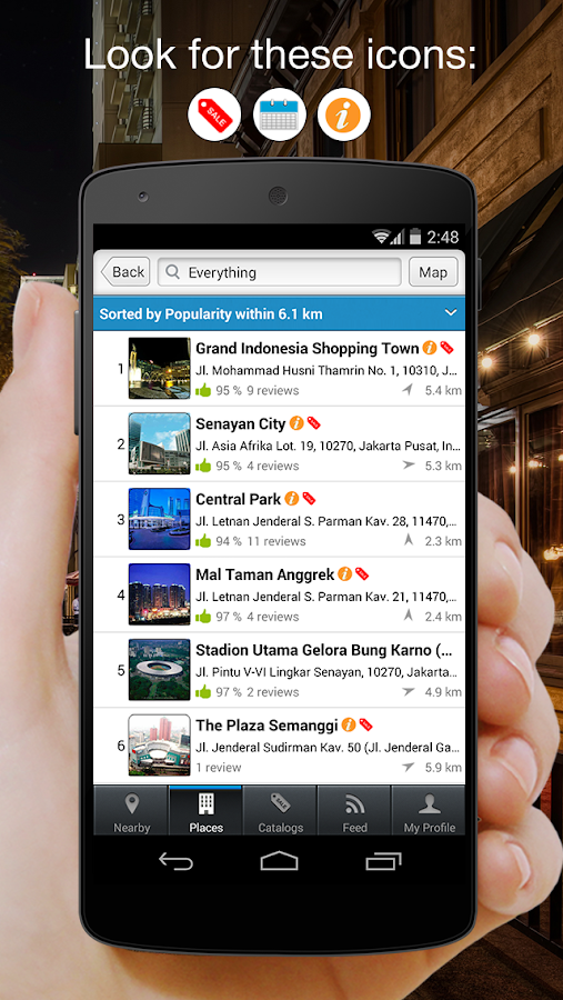isikota - find stores & deals - screenshot