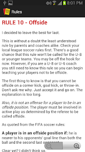Simple Soccer Rules- screenshot thumbnail