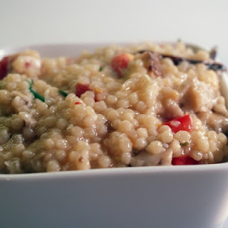 Couscous Risotto With Wild Mushrooms And Pecorino Cheese