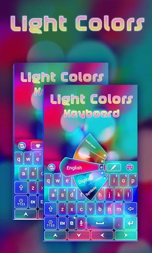明るい色のキーボード