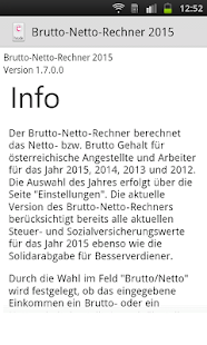 Brutto Netto Rechner 2015 - screenshot thumbnail
