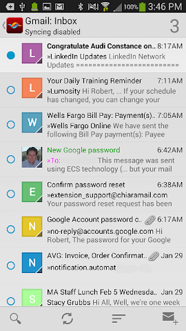 Screenshots for ChiaraMail for Android
