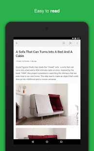 feedly news reader - screenshot thumbnail