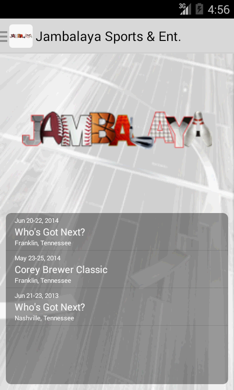 Jambalaya Sports & Ent.- screenshot