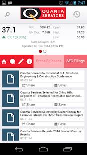 Quanta Services IR - screenshot thumbnail