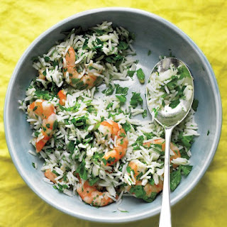 Shrimp and Rice Salad with Parsley