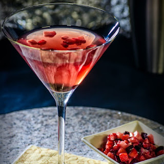 The Black-Olives Brine & Strawberry Martini