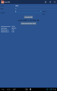 Easy EMI Loan Calculator- screenshot thumbnail