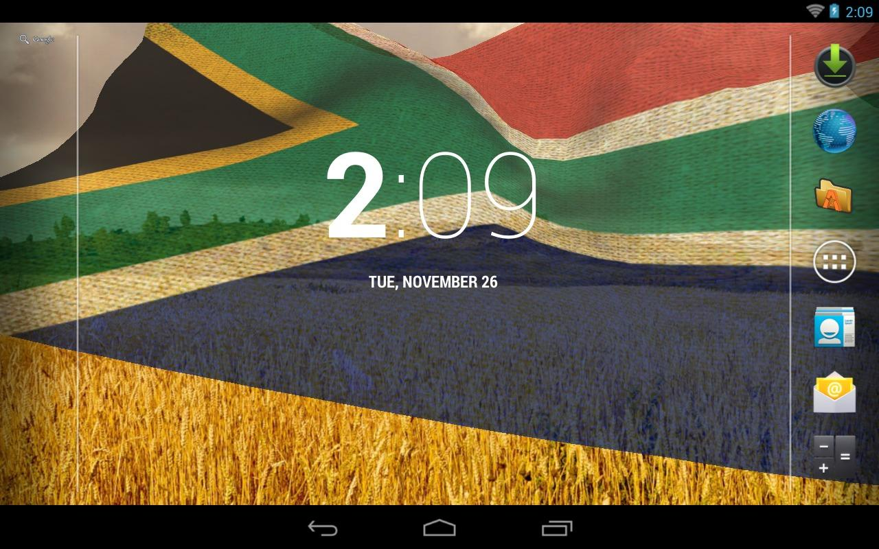3d south africa flag android apps on google play for 3d wallpaper for home south africa