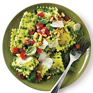 Cheese Ravioli with Pesto