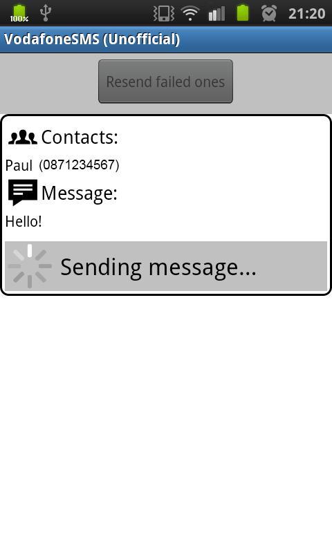 Vodafone SMS (Unofficial) - screenshot