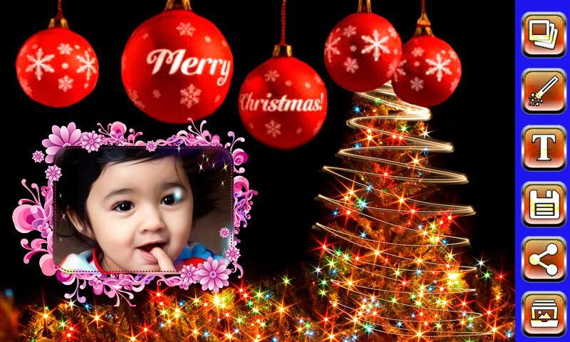 christmas photo frames screenshot