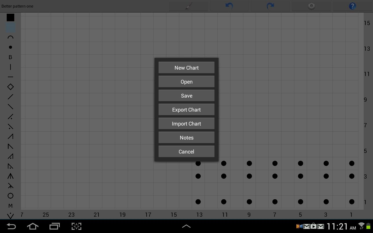 Knitting Chart Maker - screenshot