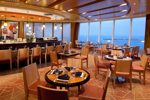 Allure-of-the-Seas-Izumi - In the mood for authentic Japanese cuisine? Head to Izumi restaurant on your Allure of the Seas sailing and try the sushi, caterpillar roll or sea urchin.