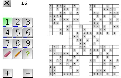 Samurai Sudoku Multi Board