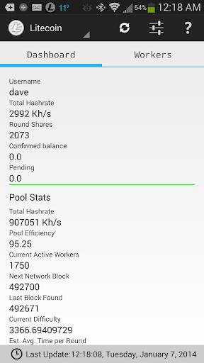 HashFaster's Pool Status App