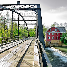 War Eagle Mill by Jeffrey Genova - Buildings & Architecture Bridges & Suspended Structures ( water, mill, waterfall, gris mill, bridge, war eagle )