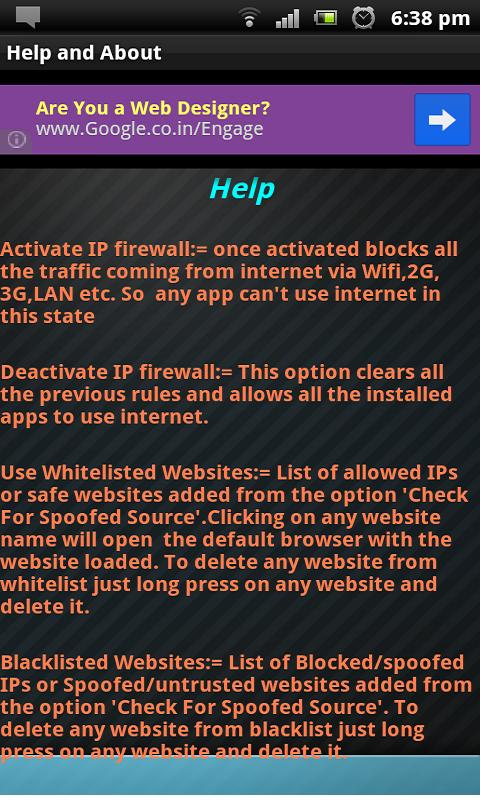 IPspoofing Detector & Firewall- screenshot