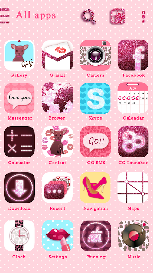 Pretty Girl GO Launcher Theme - screenshot