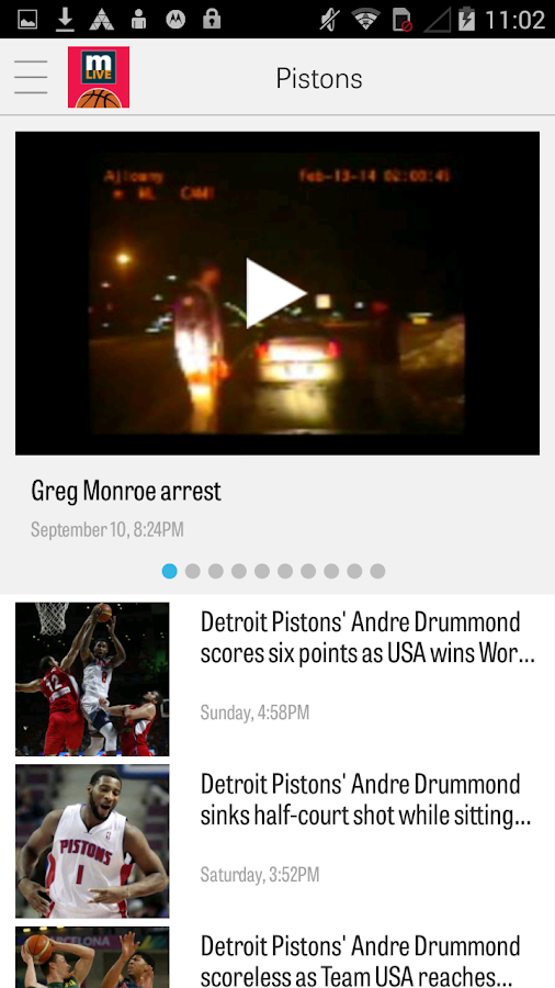 MLive.com: Pistons News- screenshot