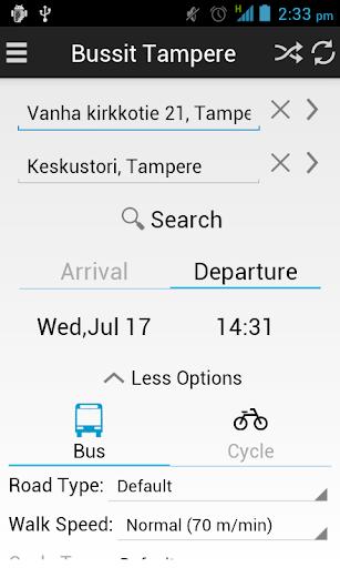Bussit Tampere Reittiopas Pro