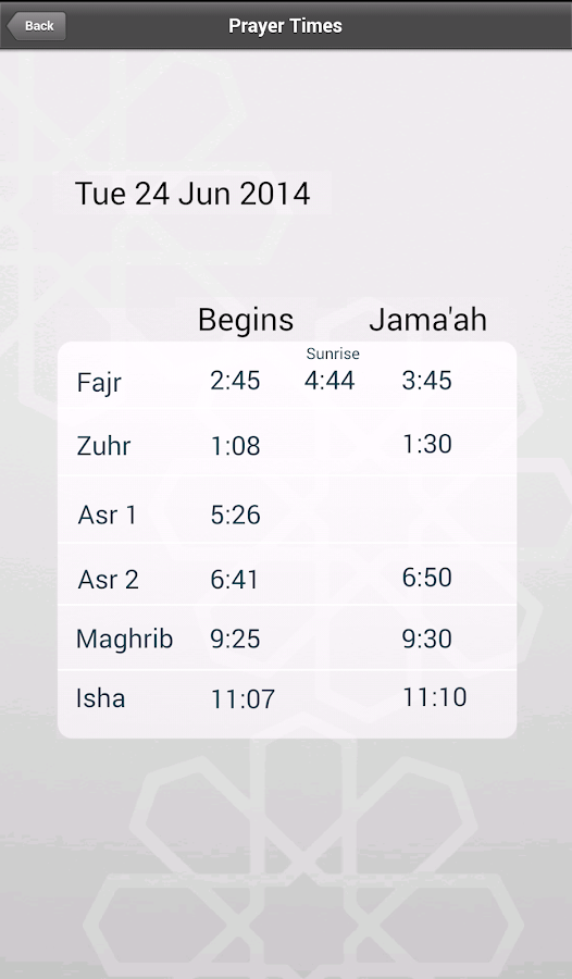 East London Mosque App- screenshot