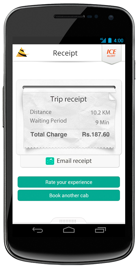Meru Cabs - screenshot