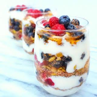 Make-Ahead Fruit and Yogurt Protein Parfaits.
