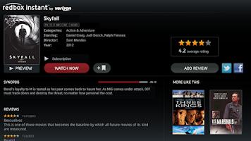 Screenshot of Redbox Instant for Google TV