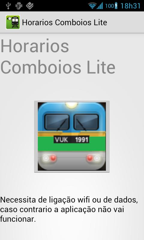 Train Schedule Lite Portugal - screenshot
