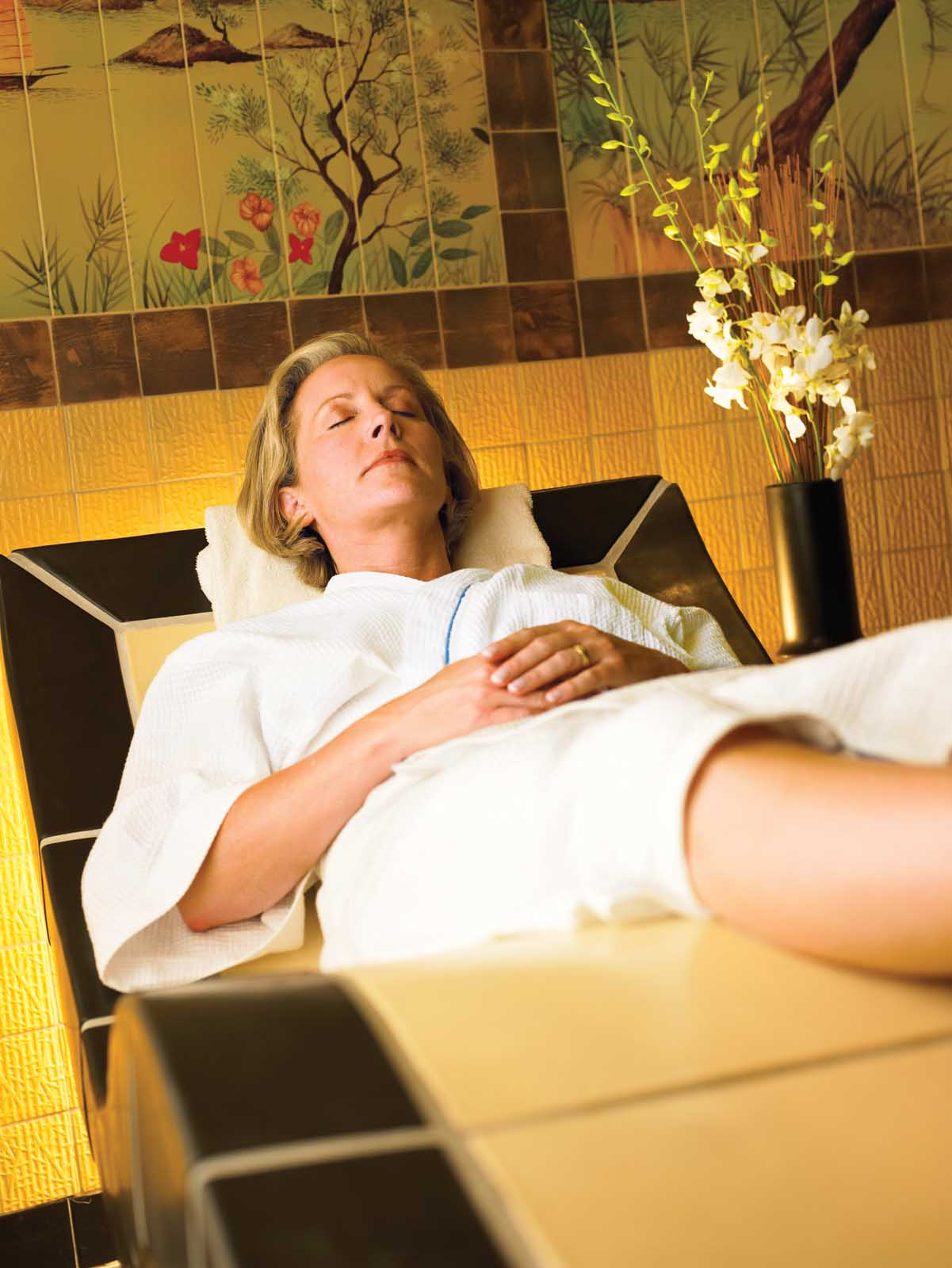 Make time for serenity during your Princess Cruise. Head to the Lotus Spa to relax and get pampered with a body wrap, body therapy or a number of other spa services.