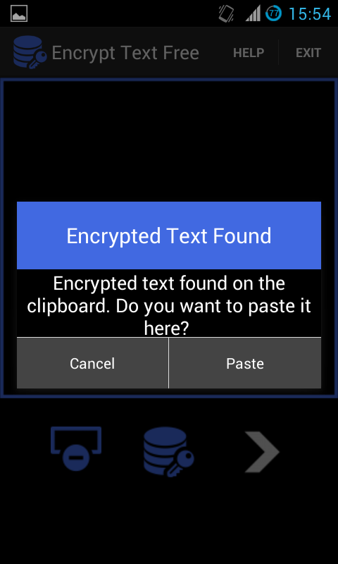 Encrypt Text Free: captura de pantalla