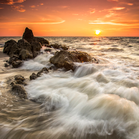 Miri Sunset by Andrew Micheal - Landscapes Sunsets & Sunrises