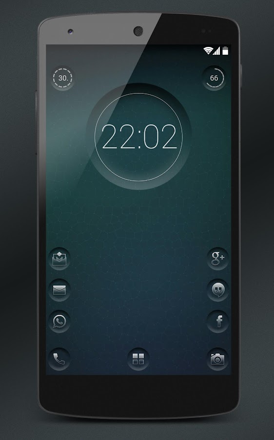7null clock zooper widget- screenshot