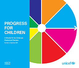 "Cover of ""Progress for Children: A World Fit for Children Statistical Review"" by UNICEF"