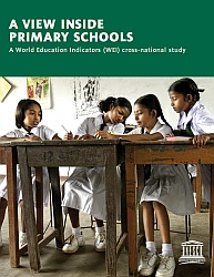 "Cover of ""A view inside primary schools"" by UIS"