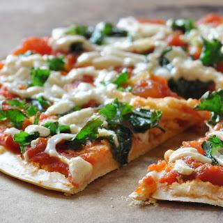 Easy Vegan, Gluten-Free Chickpea Crust Pizza.