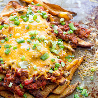 Beer-Soaked Chili Cheese Fries.