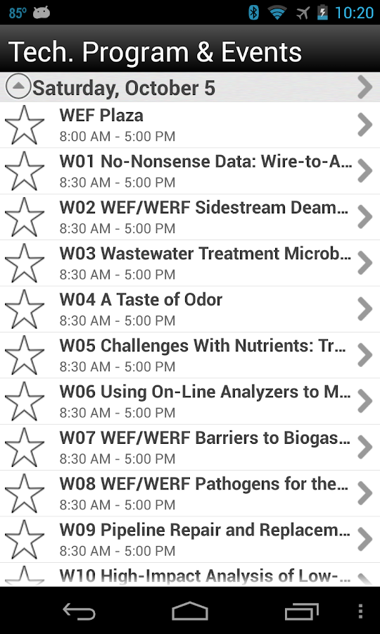 WEFTEC 2013 - screenshot