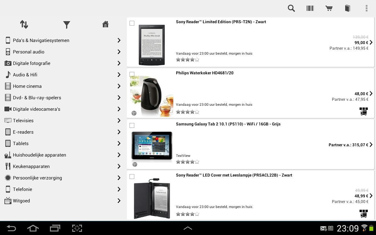 de Winkel -  app voor bol.com - screenshot