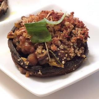 Tuscan Vegan Stuffed Mushroom