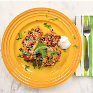 Quinoa Black Bean Chicken Stuffed Poblano Peppers.