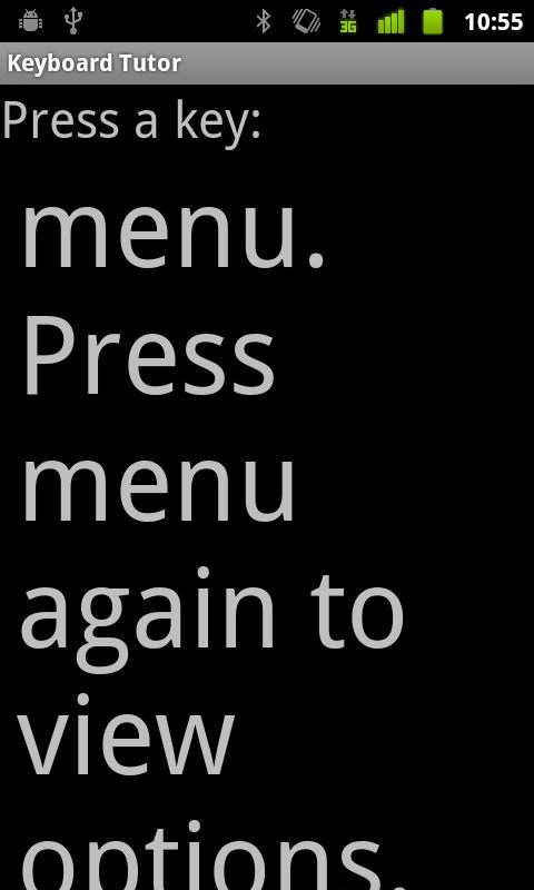 Keyboard Tutor- screenshot