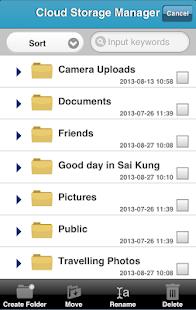 Cloud Storage Manager Screenshot Thumbnail