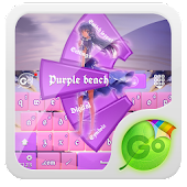 Purple beach GO Keyboard