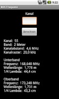 Screenshot of BOS Frequenz