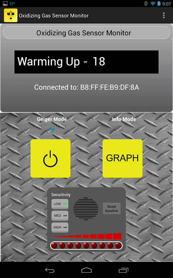 Oxidizing Gas Sensor Monitor- screenshot