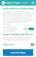 Screenshot of HIF SmartClaim