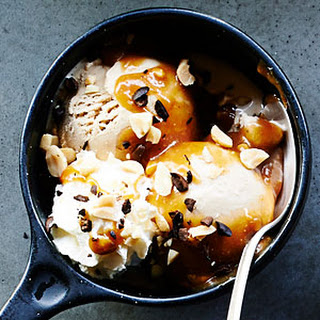 Coffee Sundaes with Salted Peanut Butter Caramel
